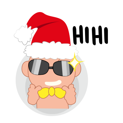 Baby emoji Mery Christmas messages sticker-4