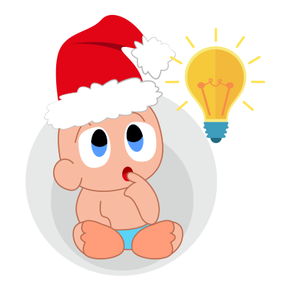 Baby emoji Mery Christmas messages sticker-7