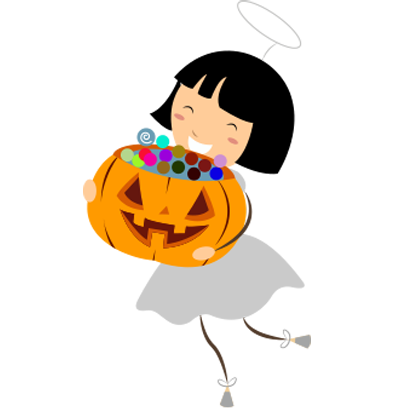 Angel Halloween sticker messages sticker-7