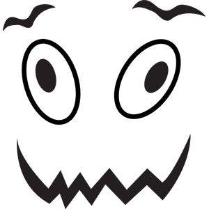 Halloween face simple emoji messages sticker-10