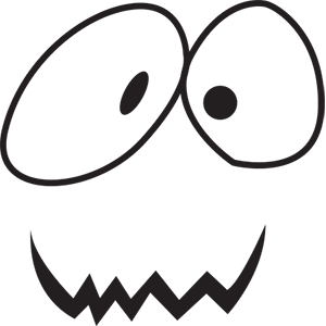 Halloween face simple emoji messages sticker-11