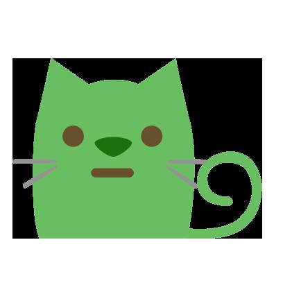 Facial Cat sticker for iMessage messages sticker-3