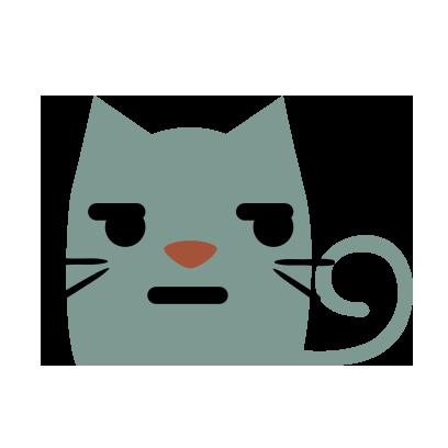 Facial Cat sticker for iMessage messages sticker-11
