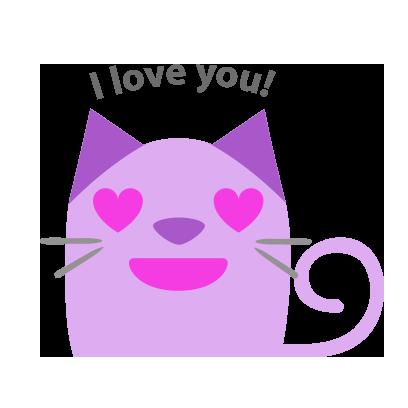Facial Cat sticker for iMessage messages sticker-6