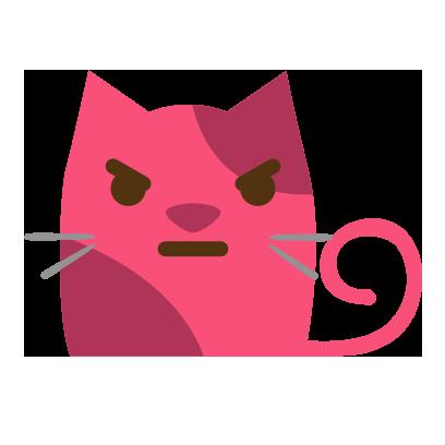 Facial Cat sticker for iMessage messages sticker-7