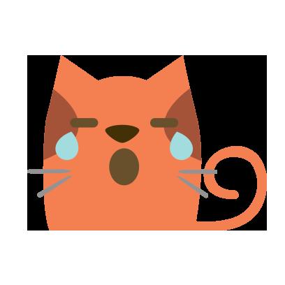 Facial Cat sticker for iMessage messages sticker-9
