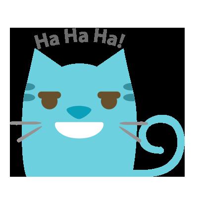 Facial Cat sticker for iMessage messages sticker-8