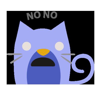 Facial Cat sticker for iMessage messages sticker-5