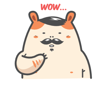 Cartoon Hamster Sticker Pack messages sticker-0