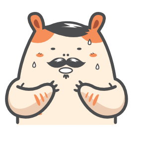 Cartoon Hamster Sticker Pack messages sticker-2