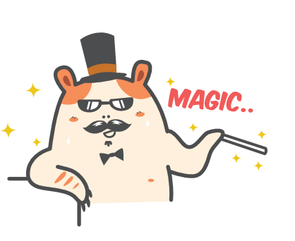 Cartoon Hamster Sticker Pack messages sticker-7