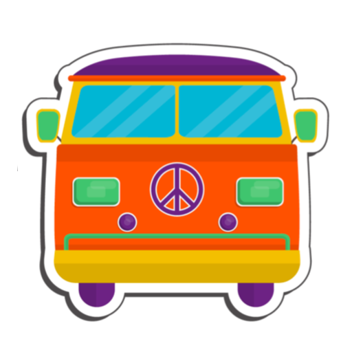 Vintage hippie stickers for message messages sticker-9