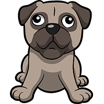 PugMoji - Pug Emoji & Sticker messages sticker-7