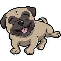 PugMoji - Pug Emoji & Sticker messages sticker-8