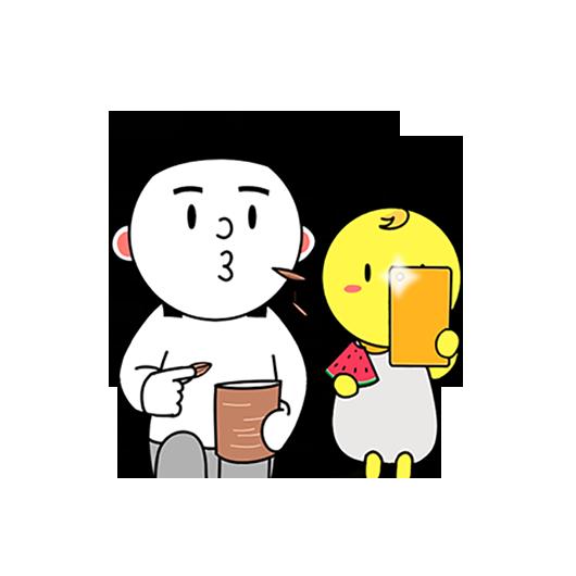 紫微大师和天相星君-表情包贴纸 messages sticker-9