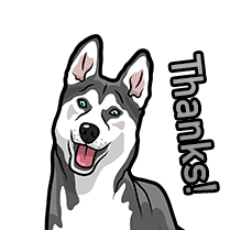 HuskyMoji - Husky Emoji & Sticker messages sticker-8
