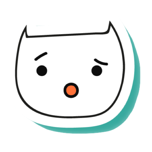 White Cats - funny stickers messages sticker-0