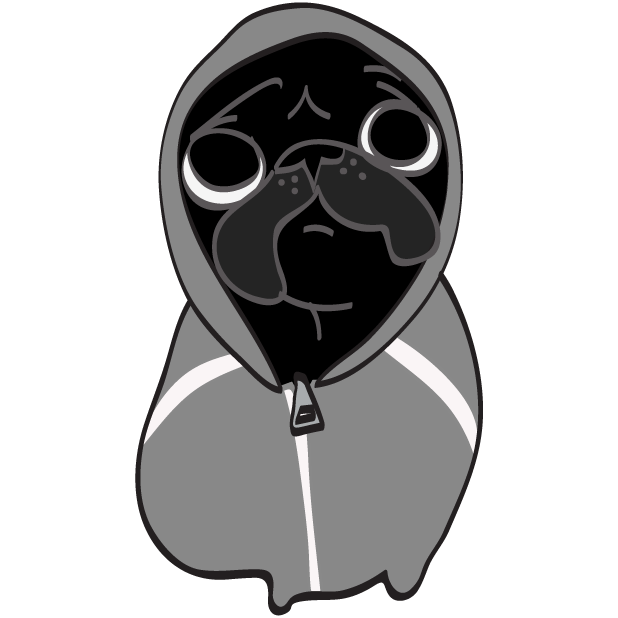 Hewston the Pug messages sticker-0