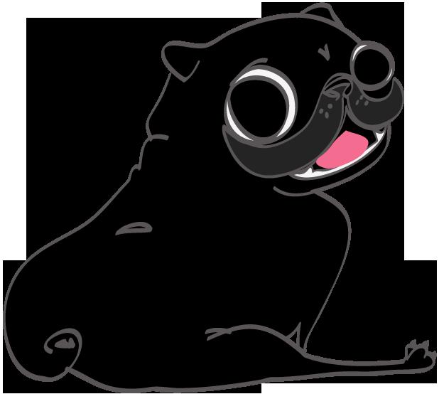 Hewston the Pug messages sticker-8