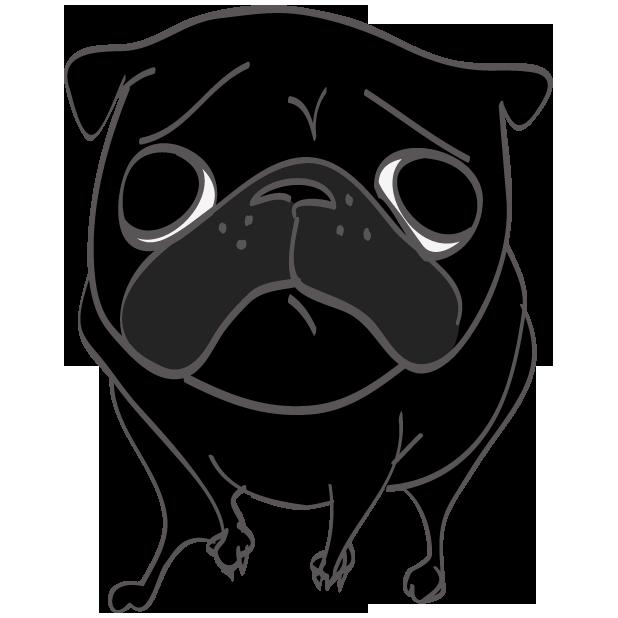 Hewston the Pug messages sticker-1