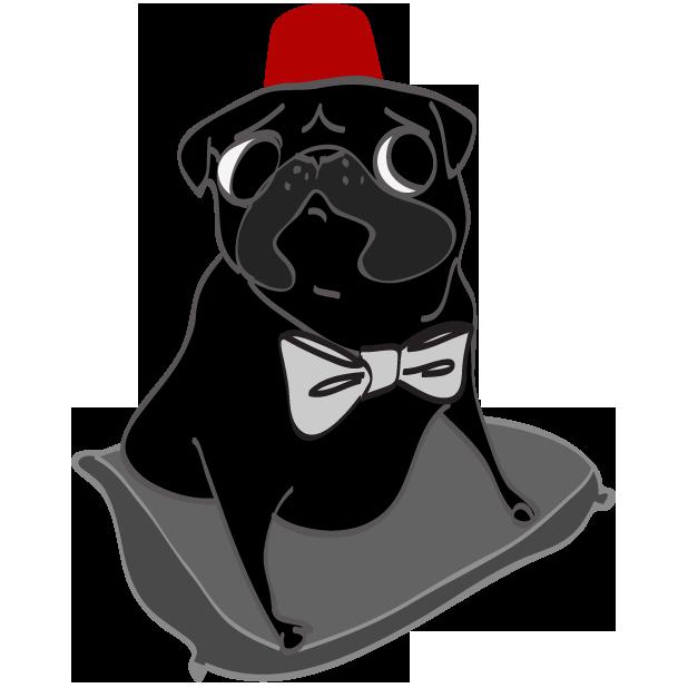 Hewston the Pug messages sticker-2