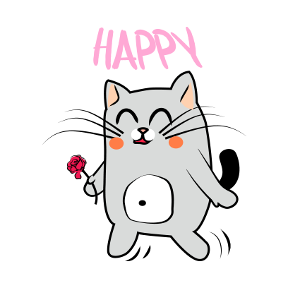 Cute Cats emoji for iMessage messages sticker-6
