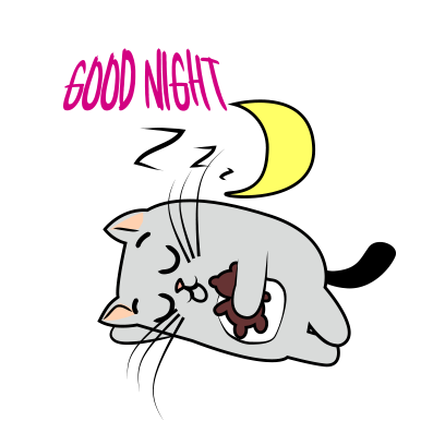 Cute Cats emoji for iMessage messages sticker-7