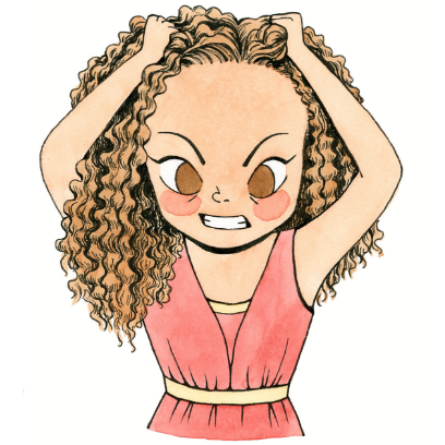 CurlyGirlMoji messages sticker-6