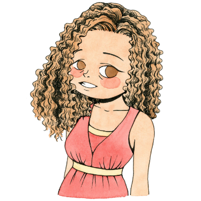 CurlyGirlMoji messages sticker-3