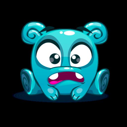 Cute Kawaii Emoji messages sticker-5