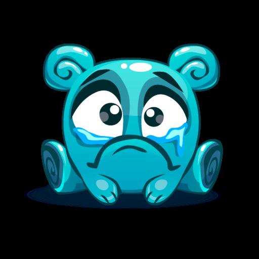 Cute Kawaii Emoji messages sticker-6
