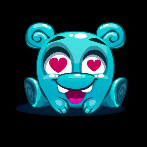 Cute Kawaii Emoji messages sticker-3