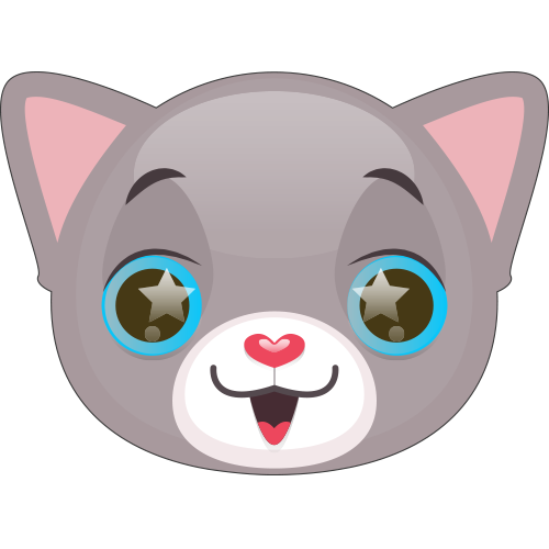 Cute Cat and Kitten Emoji messages sticker-3