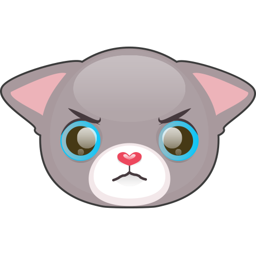 Cute Cat and Kitten Emoji messages sticker-8