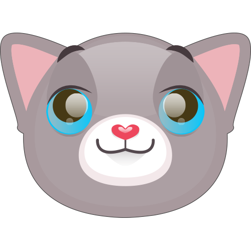 Cute Cat and Kitten Emoji messages sticker-9
