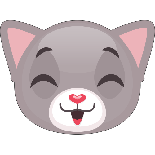 Cute Cat and Kitten Emoji messages sticker-7