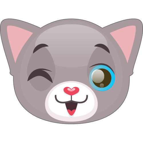 Cute Cat and Kitten Emoji messages sticker-6