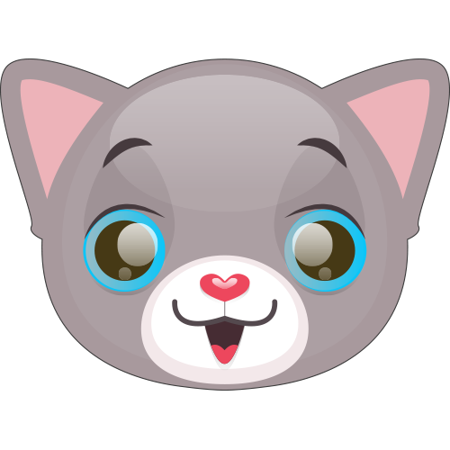 Cute Cat and Kitten Emoji messages sticker-0