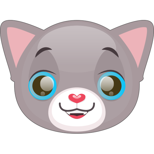 Cute Cat and Kitten Emoji messages sticker-4