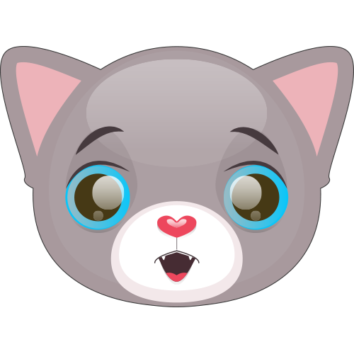Cute Cat and Kitten Emoji messages sticker-11