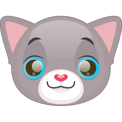 Cute Cat and Kitten Emoji messages sticker-1