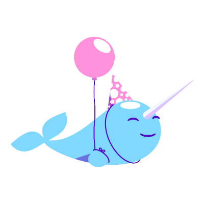 Narwhal Life messages sticker-10