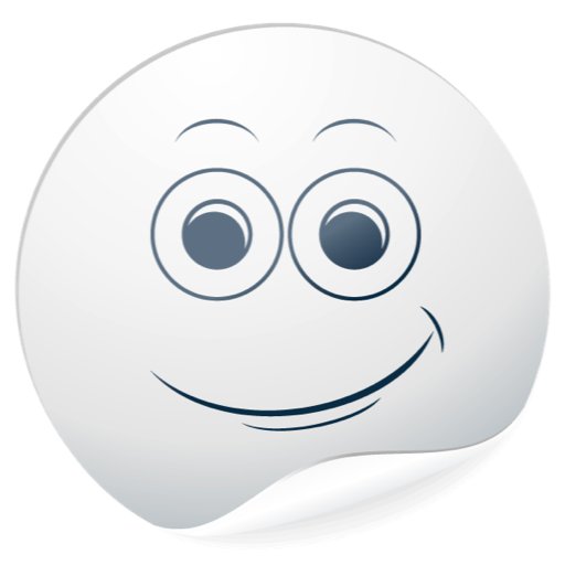 Cute White Smiles for messages messages sticker-0