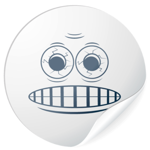 Cute White Smiles for messages messages sticker-9