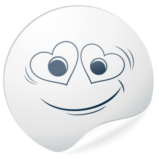 Cute White Smiles for messages messages sticker-2