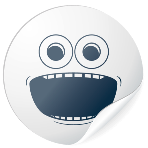 Cute White Smiles for messages messages sticker-3