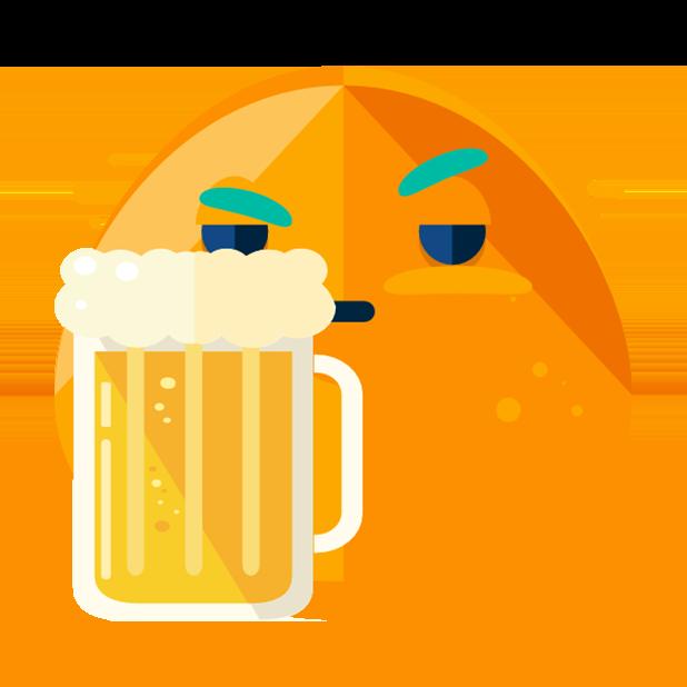 Flat Emoji Stickers Pack messages sticker-8