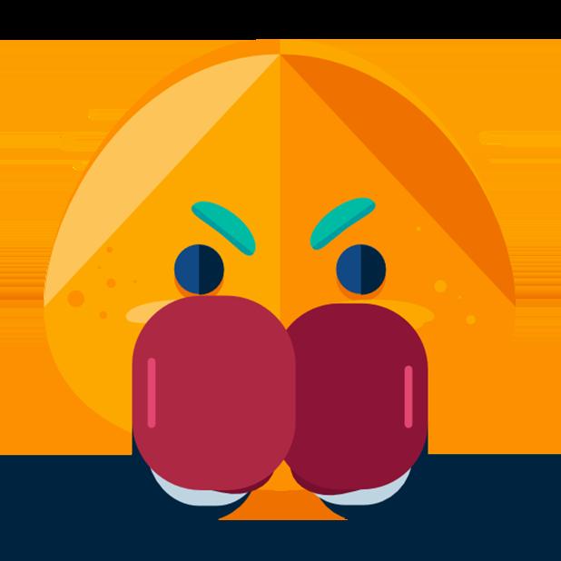 Flat Emoji Stickers Pack messages sticker-11