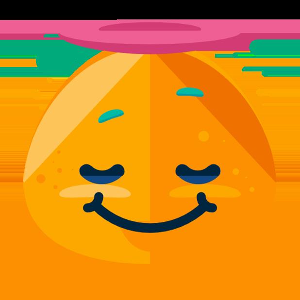 Flat Emoji Stickers Pack messages sticker-1
