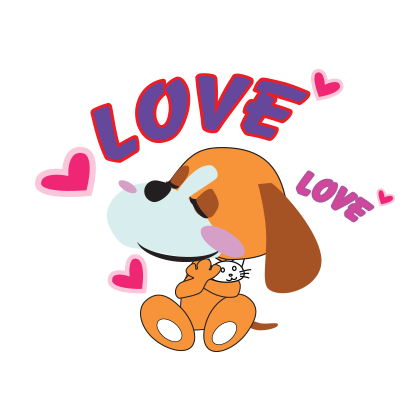 Puppy love emoji stickers messages sticker-7